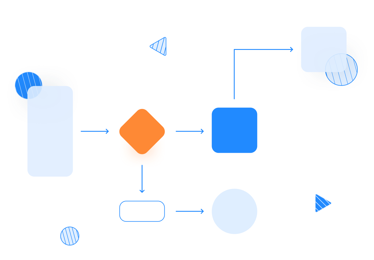 Flow chart graphic